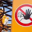 Warning sign - Stockfoto