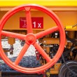 Steering wheel of the train service for controlling - Stockfoto