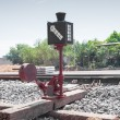 Railway signals - Stock Photo