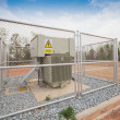 Warning sign, danger high voltage, safety concept — Stockfoto