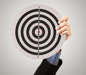 Business target in hand — Stock Photo