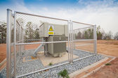 Warning sign, danger high voltage, safety concept — Stock Photo