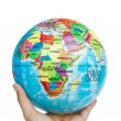 Earth globe, world in hand — Stock Photo