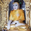 Buddha statue, in pagoda Myanmar — Stock Photo
