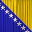 Bosnia flag on curtain — Stock Photo