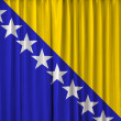 Bosnia flag on curtain — Stok fotoğraf