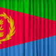 Stock Photo: Eritreflag on curtain