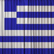 Greece flag on curtain — Stock Photo #32866911
