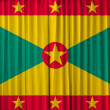 Grenada flag on curtain — Stock Photo