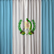 Stock Photo: Guatemalflag on curtain