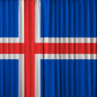 Iceland flag on curtain — Stock Photo