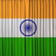 Stock Photo: Indiflag on curtain