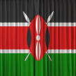Stock Photo: Kenyflag on curtain