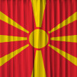 Stock Photo: Macedoniflag on curtain