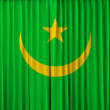 Mauritania flag on curtain — Foto de Stock