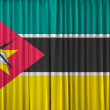Stock Photo: Mozambique flag on curtain