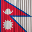Nepal flag on curtain — Foto Stock