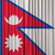 Nepal flag on curtain — Stock Photo
