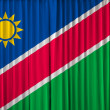 Namibia flag on curtain — Photo