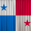 Stock Photo: Panamflag on curtain