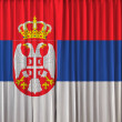 Serbiflag on curtain — Stock Photo #32869225