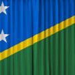 Stock Photo: Solomon Islands flag on curtain