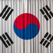 South Korea flag on curtain — Foto de Stock