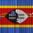 Stock Photo: Swaziland flag on curtain