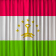 Tajikitstan flag on curtain — Foto Stock
