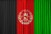 Afghanistan flag on curtain — Stock Photo