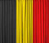Belgium flag on curtain — Stock Photo