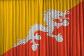 Bhutan flag on curtain — Stock Photo
