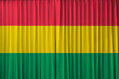 Bolivia flag on curtain — Stock Photo