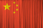 China flag on curtain — Stock Photo
