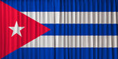 Cuba flag on curtain — Stock Photo