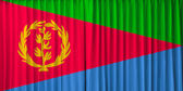 Eritrea flag on curtain — Stock Photo