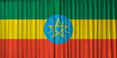 Ethiopia flag on curtain — Stock Photo