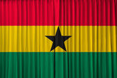 Ghana flag on curtain — Stock Photo