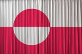 Perde grönland bayrağı — Stok fotoğraf