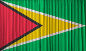 Guyana flag on curtain — Stock Photo