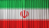 Iran flag on curtain — Stock Photo