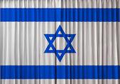 Bandiera di israele sulla tenda — Foto Stock