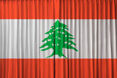 Lebanon flag on curtain — Stock Photo