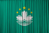 Macau flag on curtain — Stock Photo