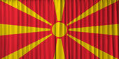 Macedonia flag on curtain — Stock Photo