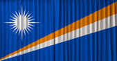 Marshall Islands flag on curtain — Стоковое фото