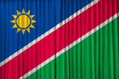 Namibia flag on curtain — Stock Photo