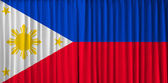 Phillippines flag on curtain — Stok fotoğraf