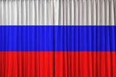 Russia flag on curtain — Stock Photo