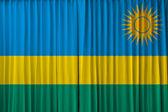 Rwanda flag on curtain — Stock Photo